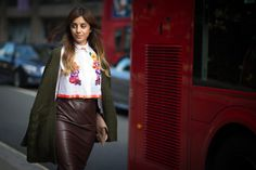 Pin for Later: See All the Best Street Style From LFW LFW Street Style Day 2 Alberta Ferretti created this gorgeous blouse.