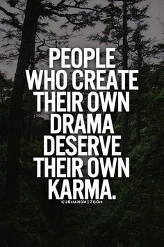 Just say no to drama!