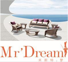 Señor sueño sueño jardín rattan sofa outdoor muebles CF76-NWS9001