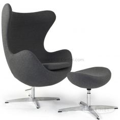Light Gray Egg Chair | Gray Egg Chair | Grey Egg Chair Dark   Sale $899
