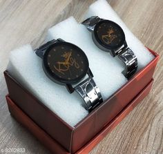 Checkout this latest Couple watches Product Name: *Bond Street Exclusive King-Queen Crystal Glass Black Dial Black Stainless Steel Strap Analoge Combo Watches For Couples* Strap Material: Stainless Steel Date Display: No Dial Color: Black Dial Design: Kings & Queens Dial Shape: Round Display Type: Analog Dual Time: No Gps: No Ideal For: Men & Women Light: No Multipack: 2 Sizes:  Free Size (Dial Diameter Size: 40 mm)  Country of Origin: India Easy Returns Available In Case Of Any Issue   Catalog Rating: ★4.1 (240)  Catalog Name: Attractive Women Watches CatalogID_1379598 C72-SC1087 Code: 603-8262633-996
