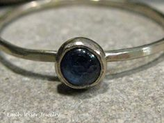 Blue Sapphire White Gold Ring.