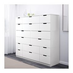 NORDLI Kommode mit 16 Schubladen, weiß 160x142 cm weiß