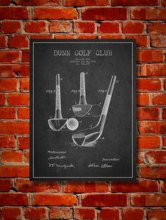 1900 Golf Club Patent Canvas Print  Wall Art by PatentsWallArt