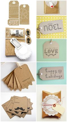 Brown paper packaging and tags
