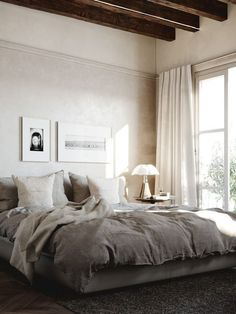 26 Rustic Bedroom Design and Decor Ideas for a Cozy and Comfy Space - The Trending House Luxurious Bedrooms, Luxury Bedrooms, Master Bedrooms, Suites, Modern House Design, New Room, Restaurant Design, Home Decor Bedroom, Bedroom Ideas