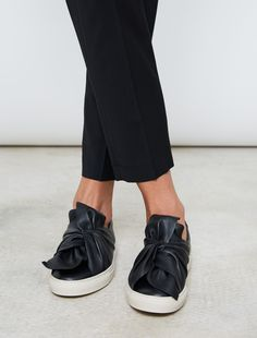 stylish footwear: Ports 1961 Bow Sneakers Black WOMEN'S ACCESSORIES http://amzn.to/2kZf4gO