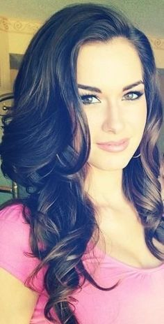 Long Curly Brown Homecoming Hairstyle » Homecoming Hairstyles