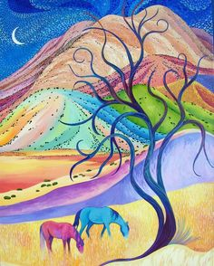 Buenos Noche Dulces Suenos by Sally Bartos, New Mexico artist. Her work is available from bartos on Etsy.
