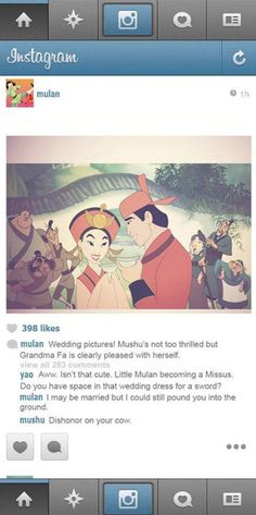 What If Disney Princesses Had Instagram