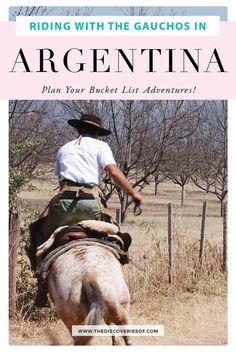 Horse riding in Argentina. The perfect bucket list adventure! Discover gauchos and incredible sceneries in Salta, Argentina. #salta #argentina #travel #bucketlist Backpacking South America, South America Travel, Travel Destinations, Travel Tips, Adventure Bucket List, Argentina Travel, Short Trip, Plan Your Trip, Horse Riding