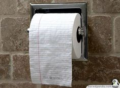 notepad toilet paper, in case Josh gets a good idea on the can