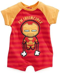 Seriously...LIKE DADDY! Baby Boys Marvel Rompers