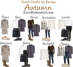 #Travel #Outfits for Backpacking Europe in AUTUMN via TravelFashionGirl.com #fashion #packing #list