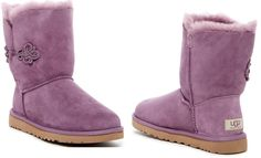 UGG Australia Bailey Mariko Genuine Lavender Shearling Boot Size 8M MSRP $189.95…
