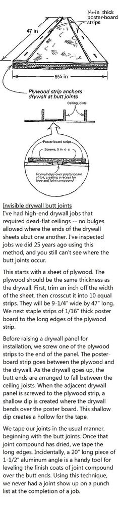 Drywall mudding techniques - when to use which knife - punch list