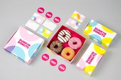 Dunkin Donuts Branding Update by Hanna Sköld & Sara Knipström Dunkin Donuts was established 1950 in Massachusetts and in 2014 they opened up their first store in Sweden. Hanna and Sara saw an opportunity to update Dunkin Donuts visual identity and. Identity Design, Visual Identity, Brand Identity, Donuts Donuts, Blog Design Inspiration, Packaging Design Inspiration, Dunkin 'donuts, Donut Logo, Donut Store