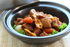 Cantonese Beef Stew Ingredients: 2 tablespoons oil 1/2 small onion, cut into small pieces 2