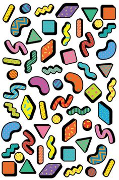 Saskia Pomeroy, art, design, colorful graphic, pattern