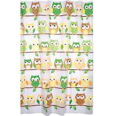 Enigma Printed Peva Shower Curtain, Owls | Jet.com
