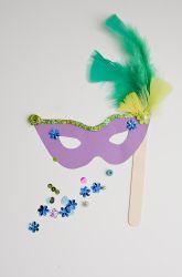 Second Grade Paper & Glue Crafts Activities: Mardi Gras Mask