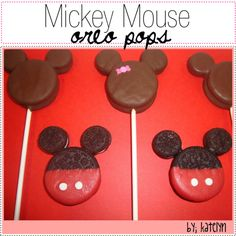 Mickey Mouse Oreo Pops- OMG... 2 of my favorite things : )