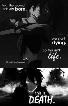 """""""Von der ersten Sekunde an, an der wir geboren werden, fangen wir an zu sterben. So ist das Leben. Dies ist der Tod."""""""