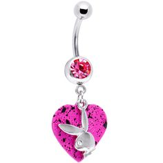 Rocking Rabbit Play Bunny Belly Ring   Body Candy Body Jewelry