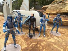 Star Wars Clone Wars Mandalorian Lot- Pre Vizsla- Transport #Hasbro