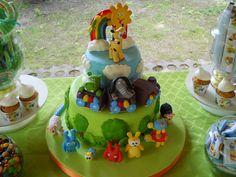 Baby TV Cake! 1st Birthday Parties, Birthday Cake, Birthday Ideas, Baby Tv Cake, Fondant, First Birthdays, Baby Kids, Kid Cakes, Desserts