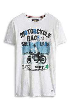 www.davidemartini.ink for Esprit / Slub Jersey Print T-Shirt, 100% Baumwolle
