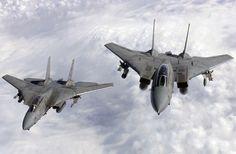 US Navy F-14 Tomcat Fighter Jets...