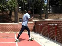 Hurdle Training - Lead Leg Wall Drill - YouTube
