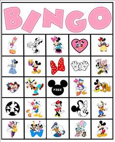 Fazendo a Minha Festa!: Bingo de Personagens Disney!