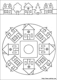Mandala et frise d'un quartier