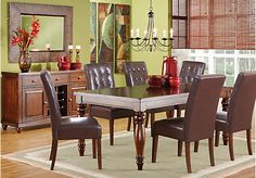 picture of Calistoga Raisin 5 Pc Rectangle Dining Room  from Dining Room Sets Furniture