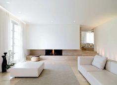 Minimal, quiet, white living room