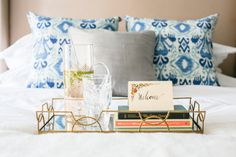 Welcome basket: http://www.stylemepretty.com/living/2015/09/06/how-to-style-the-perfect-guest-bedroom/ | Photography: M Loves M - http://www.mlovesmblog.com/