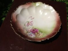 Pretty vintage antique hand painted bowl with by Glassthatrocks, $12.00