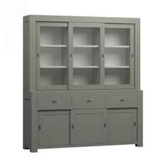 Royal design moderne driedeurs buffetkast grijs [RD02G] China Cabinet, Living Room, Cupboards, Storage, Interior Ideas, Modern, House, Furniture, Design
