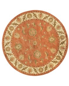 Dynamic Rugs Charisma Rust/Ivory Classic Round Area Rug