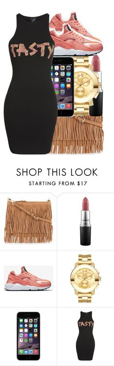 """Lul.juicee❤️"" by jordanv ❤ liked on Polyvore featuring Rebecca Minkoff, MAC Cosmetics, NIKE, Movado and Illustrated People"