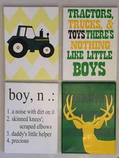John deere nursery set by TurtlesCraftsdesigns on Etsy
