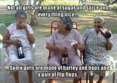 barley, hops and a pair of flip flops