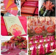 Wedding, Pink, Orange