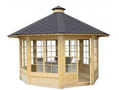 Kiosque de jardin vitré - 10 m2 - TerraGallia   L'habitat au naturel                                                                                                                                                                                 Plus