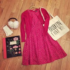 This would be a very cute outfit for Valentine's Day, don't you think? Shop the look here!