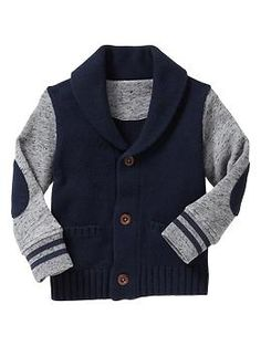 French terry shawl cardigan | Gap  So excited about getting this for my son....I know he will be super cute in this!