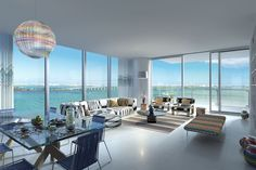 The upcoming Missoni Baia in Edgewater was featured in Mansion Global, revealing five new interior renderings of the OKO Group development. The luxury condo comprised of 146 residences—three per floor. New York Penthouse, Luxury Penthouse, Luxury Condo, Luxury Homes, Penthouse Apartment, Condos For Rent, Condos For Sale, Missoni, Interior Rendering