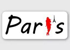 Paris woman Eiffel sticker
